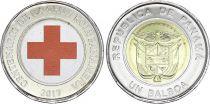 Panama 1 Balboa Red Cross - 2017 Bimetal Colorised