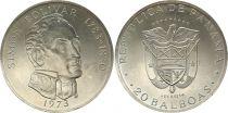 Panama 20 Balboas Simon Bolivar - Silver 1973
