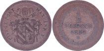 Papal States 1/2 Baiocco  - Pivs IX - 1850 R V