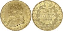 Papal States 20 Lire Pius IX - XXI -1867 R Roma - Gold