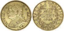 Papal States 20 Lire Pius IX - XXIII -1868 R Roma - Gold