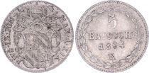 Papal States 5 Baiocchi  - Pivs IX - 1864 R