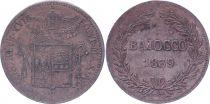 Papal States Baiocco  - Grégoire XVI - 1839 R IX