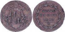 Papal States Mezzo Baiocco - Pivs IX - 1848 R IIII