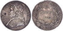 Papal States Scudo,  Pie IX - VIII - 1853 R Rome