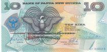 Papouasie-Nouvelle-Guinée 10 Kina Oiseau de Paradis - 25 ans de la Banque - Série AY - 1998