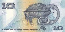 Papouasie-Nouvelle-Guinée 10 Kina Oiseau de Paradis - Artisanat - Série NDG - 1988