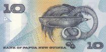 Papouasie-Nouvelle-Guinée 10 Kina Oiseau de Paradis - Artisanat - Série NDQ - 1988