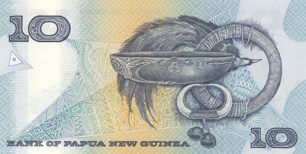 Papouasie-Nouvelle-Guinée 10 Kina Oiseau de Paradis - Artisanat - Série NEA - 1988