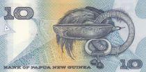 Papouasie-Nouvelle-Guinée 10 Kina Oiseau de Paradis - Artisanat - Série NEQ - 1988