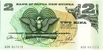 Papouasie-Nouvelle-Guinée 2 Kina Oiseau de Paradis - Artisanat - 1992