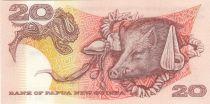 Papouasie-Nouvelle-Guinée 20 Kina Oiseau de Paradis - Sanglier - Série SBR - 1988