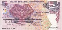 Papouasie-Nouvelle-Guinée 5 Kina 2007 - Oiseau de Paradis - Artisanat