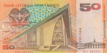 Papouasie-Nouvelle-Guinée 50 Kina Parlement - M. Somare - Série HTV - 1989
