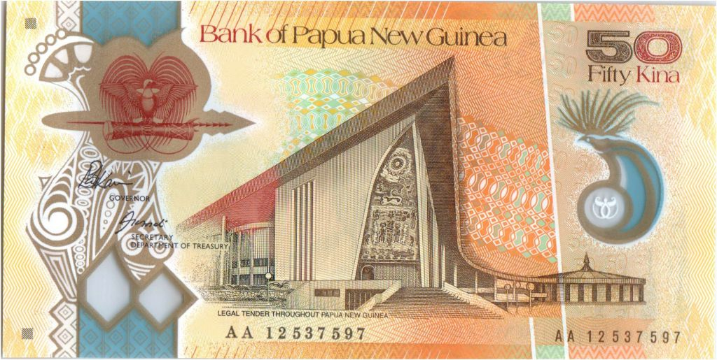 Papua New Guinea 50 Kina Parlement house - M. Somare - Polymer - 2012