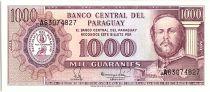 Paraguay 1000 Guaranies, F. Solano Lopez - 1982 - P.207 - Neuf