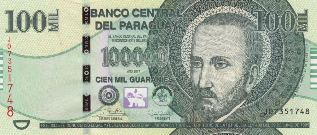 Paraguay 100000 Guaranies San Roque Gonzalez de Santa Cruz - 2017 (2018)