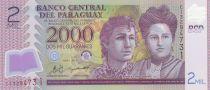 Paraguay 2000 Guaranies Adela y Celsa Speratti - 2011 Polymer