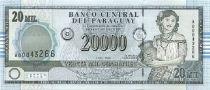 Paraguay 20000 Guaranies Femme et cruche - Imm. Banque Central