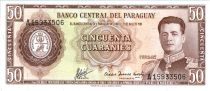 Paraguay 50 Guaranies - General  F. Estigarribia - Road Trans-Chaco - ND L.1952 (1963-1982) - Serial A