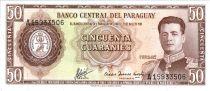 Paraguay 50 Guaranies - Général  F. Estigarribia - Route Trans-Chaco - ND L.1952 (1963-1982) - Série A