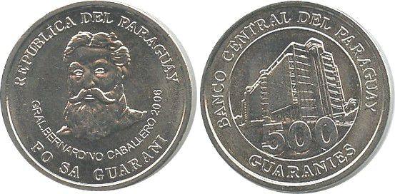 Paraguay 500 Guaranies KM.195.a