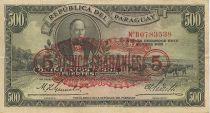 Paraguay 500 Pesos Fuertes Fuertes, Carlos Antonio Lopez, vaches