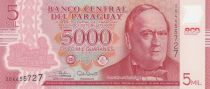 Paraguay 5000 Guaranies Don C. A. Lopez - 2017 Polymer