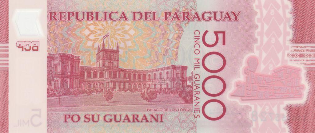 Paraguay 5000 Guaranies Don C. A. Lopez - 2017 Polymer
