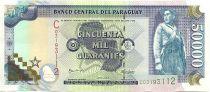 Paraguay 50000 Guaranies Soldat - Non émis refusé par la Banque Centrale