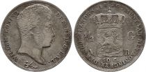 Pays-Bas 1/2 Gulden Willem I - Armoiries - 1830