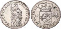 Pays-Bas 1/4 Gulden Femme casquée - Armoiries