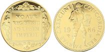Pays-Bas 1 Ducat Chevalier - 1986 - Or - Proof