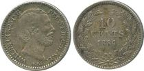 Pays-Bas 10 Cents Guillaume III