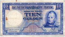 Pays-Bas 10 Gulden 1945 - Wilhem I, usine - Erreur de date de naissance du roi