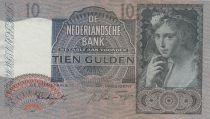 Pays-Bas 10 Gulden Jeune femme - 1942