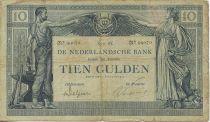 Pays-Bas 10 Gulden Travail et Commerce
