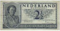 Pays-Bas 2½ Gulden 1949 - Wilhelmina - 2ème ex