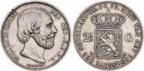 Pays-Bas 2 1/2 Gulden 2 1/2 Gulden, Willem III - Armoiries - 1873