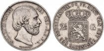 Pays-Bas 2 1/2 Gulden 2 1/2 Gulden, Willem III - Armoiries - 1873