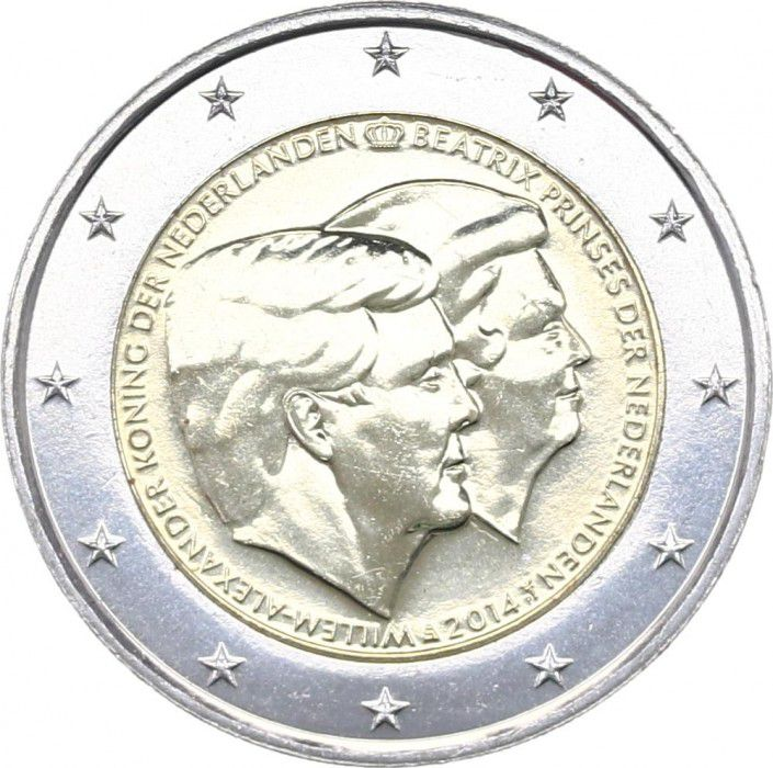 Pays-Bas 2 Euros Willem-Alexander et Beatrix - 2014