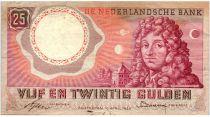 Pays-Bas 25 Gulden 1955 - Christian Huygens, Astronomie, Planètes - Série AZL010086