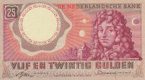 Pays-Bas 25 Gulden 1955 - Christian Huygens, Astronomie, Planètes