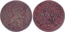 Pays-Bas Autrichiens 2 Liards, Lion debout - 1790