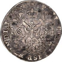 Pays-Bas Espagnol 1/4 Patagon Armoiries - Bruxelles 1654
