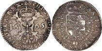 Pays-Bas Espagnol 1 Patagon Armoiries - Anvers 1665