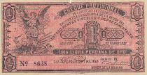 Pérou 1 Libra peruana de oro 1921 - Cheque provisional