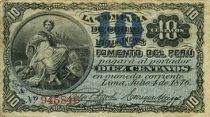 Pérou 10 Centavos Femme assise
