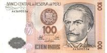 Pérou 100 Intis R. Castilla - Filature de coton
