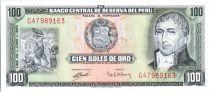 Pérou 100 Soles de Oro, H. Unanue - Congrès National - 1969